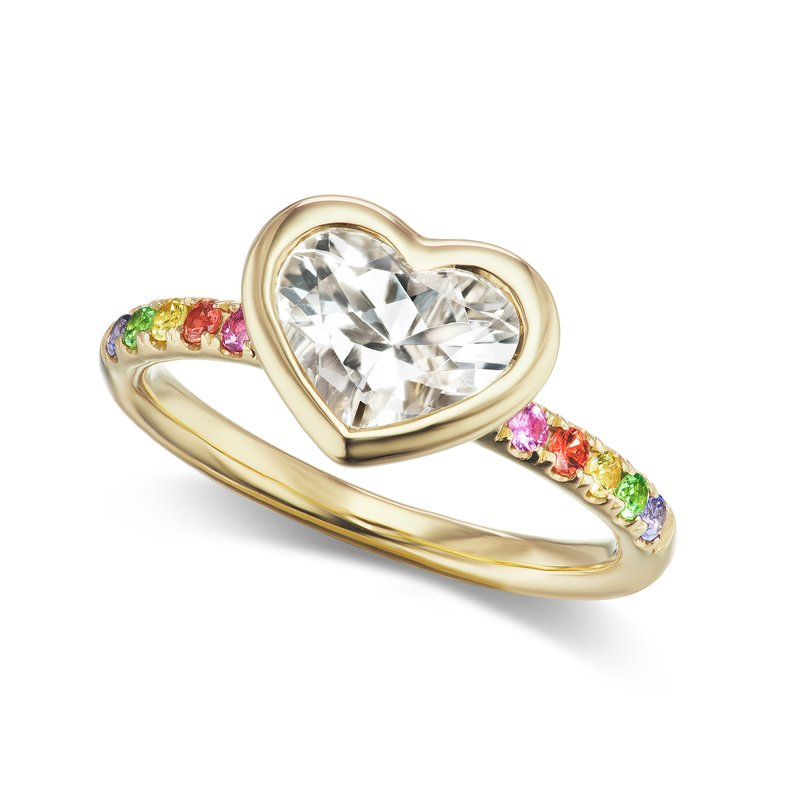 Jane Taylor Heart Ring Size 6.75