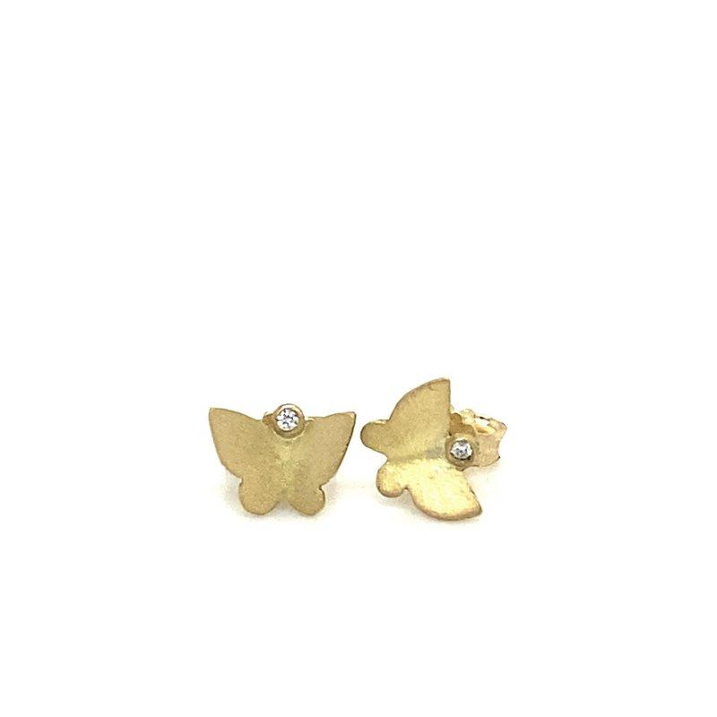 Lene Vibe Small Butterfly Stud Earrings