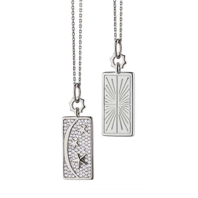 "Monica Rich Kosann Sun Moon Stars Necklace Length 18"" with loop at 16"" & 17"""