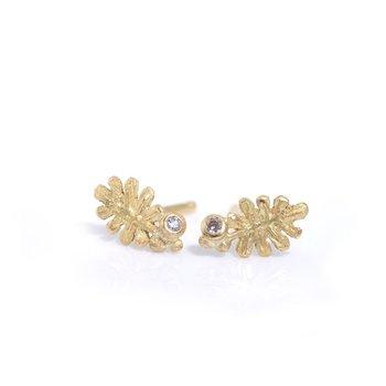 Small Leaf Stud Earrings