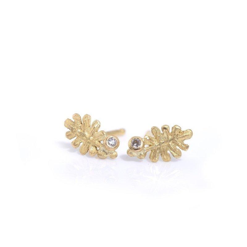Lene Vibe Small Leaf Stud Earrings