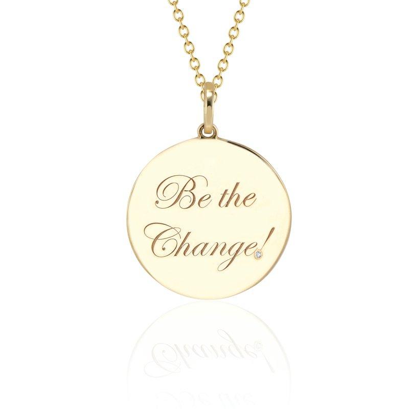 DRU Be the Change! Medallion Pendants