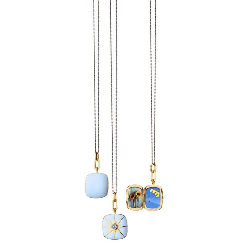 "Monica Rich Kosann Cushion Locket Necklace Length 16"" adjustable to 17"""