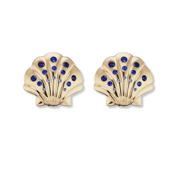 Tiny Seashell Stud Earrings