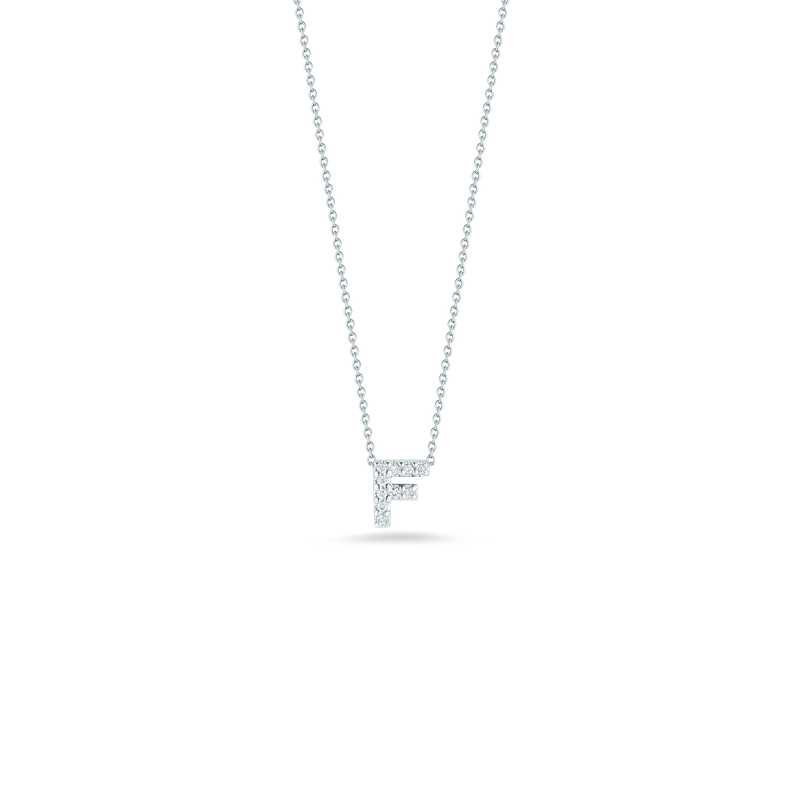 """Roberto Coin Love Letter F Necklace Length 16""""adjustable to 18"""""""