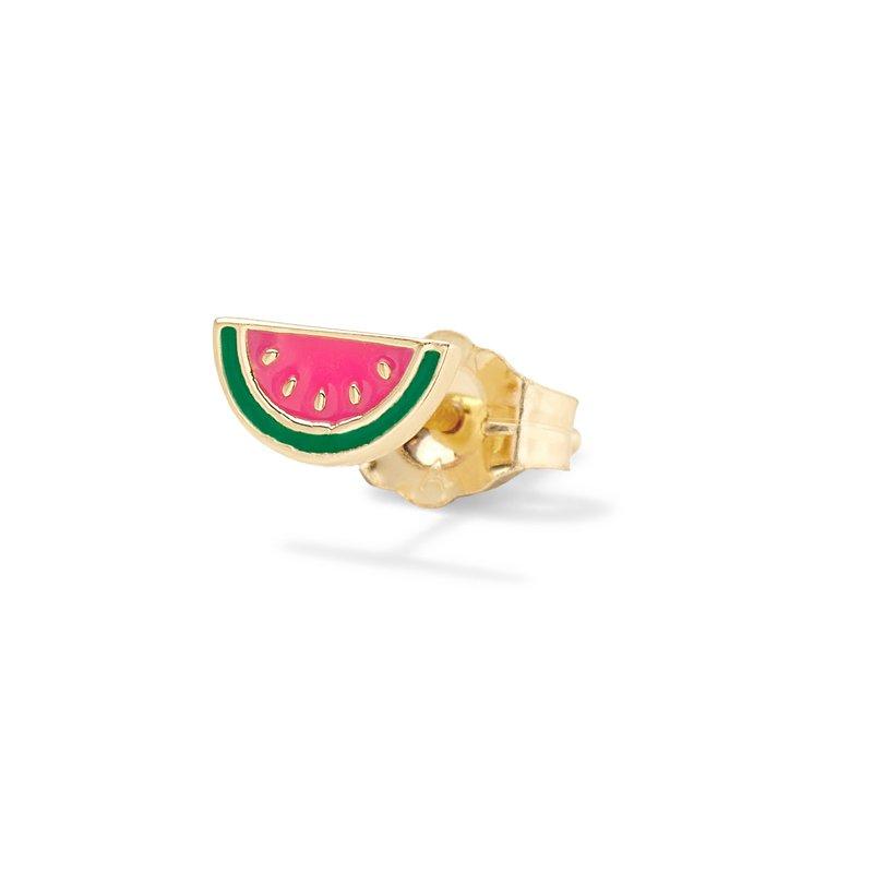 Alison Lou Watermelon Single Stud Earring