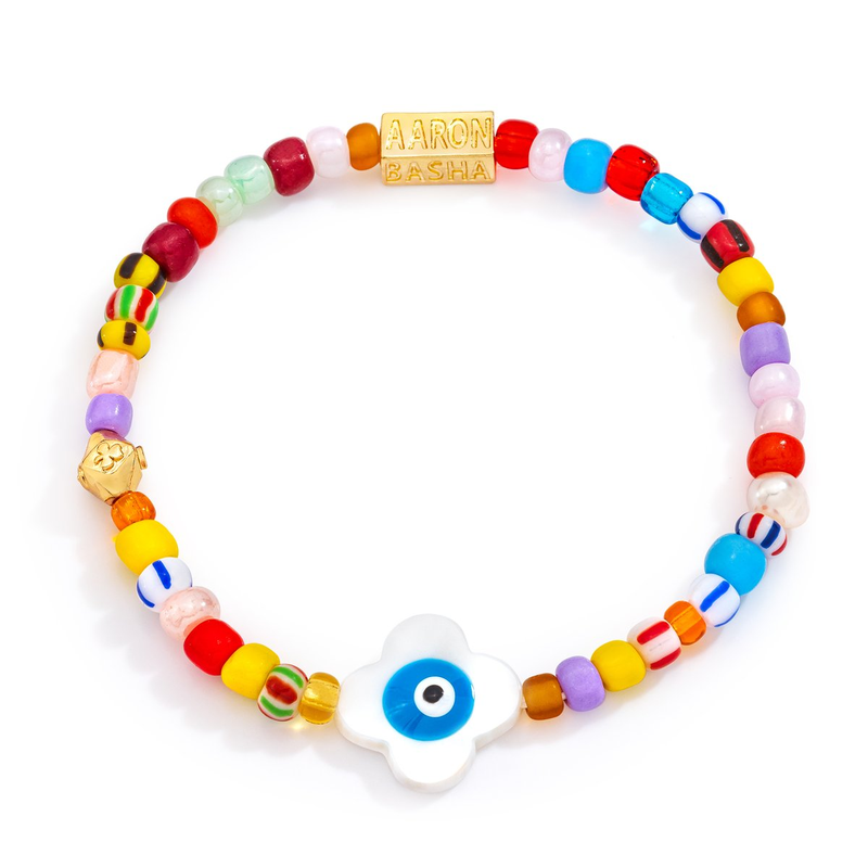 Aaron Basha Flower Bead Bracelet