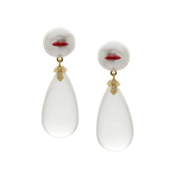 Red Lips Drop Earrings