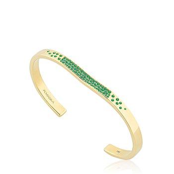 Gemstone Open Cuff Bracelet Size Small