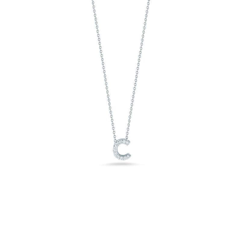 """Roberto Coin Letter C Necklace Length 16""""adjustable to 18"""""""