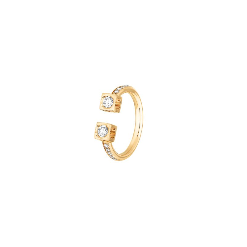 Dinh Van Large Double Cube Ring Size 6.5