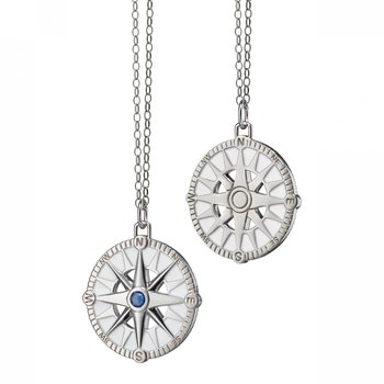"""Compass Charm Necklace 22"""" Length"""