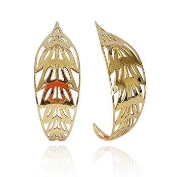 Ficus Hoop Earrings