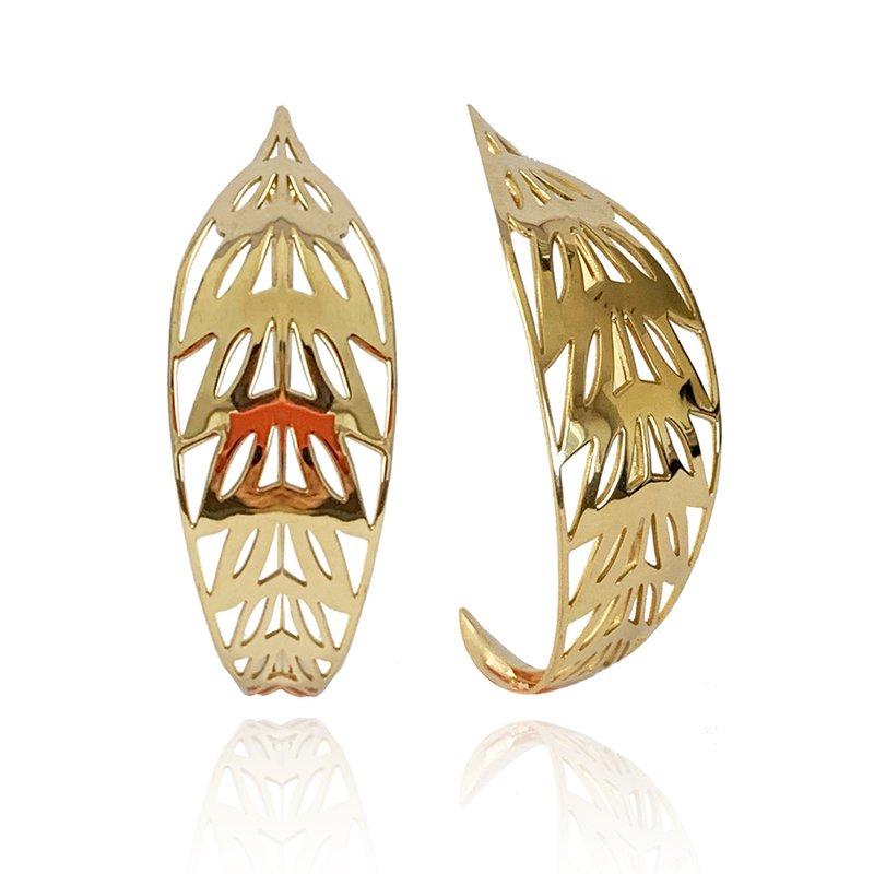 Carol Kauffmann Ficus Hoop Earrings