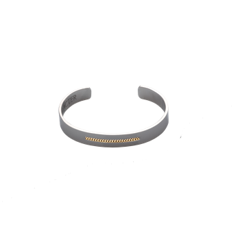 Men's Gold Line Cuff Bracelet