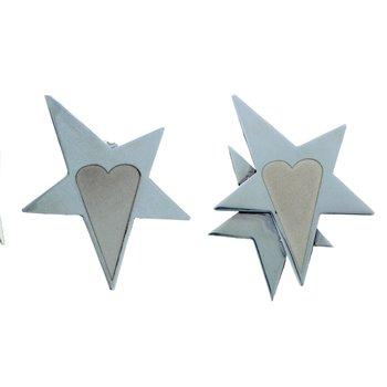 Stars & Heart  Medium Earrings