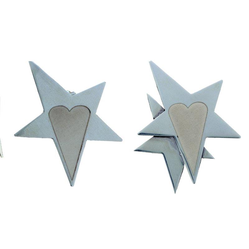 Franco Pianegonda Stars & Heart  Medium Earrings