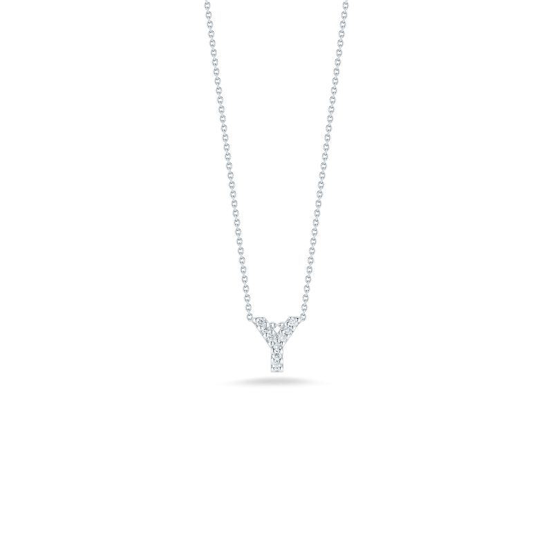 """Roberto Coin Love Letter Y Necklace length 16"""" adjustable to 18"""""""