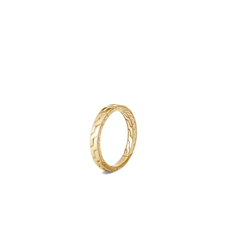 John Hardy en's Classic Chain 18K Yellow Gold 3.5mm Band Ring Size 10