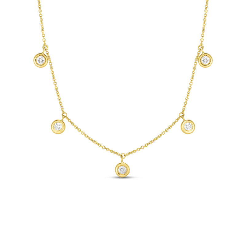 Roberto Coin Dangling Five Station Necklace
