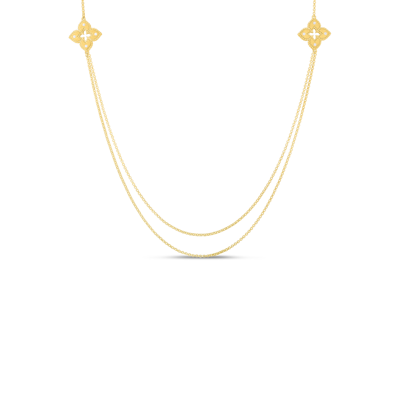 """Roberto Coin Long Station Necklace Length 33"""""""