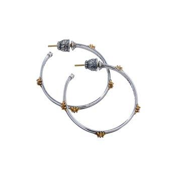 Star Axis Hoop Earrings