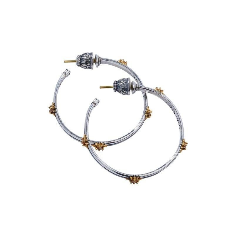 Konstantino Star Axis Hoop Earrings
