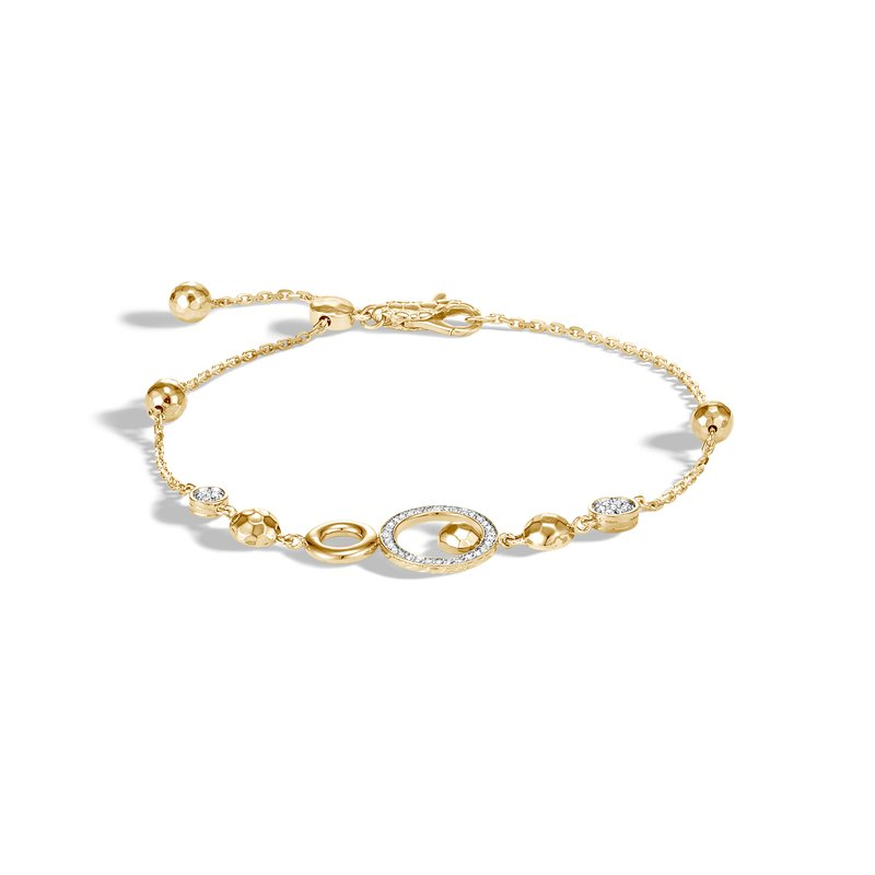 John Hardy Chain Pull Through Bracelet Size Medium-Large