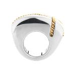 Franco Pianegonda Extra Large Square Ring Size 8