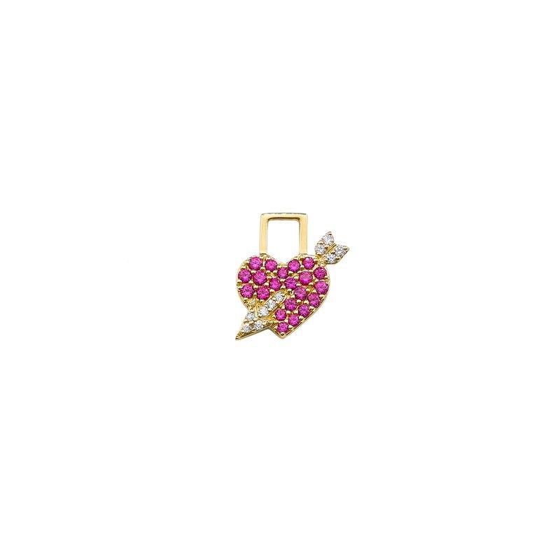 Robinson Pelham Cupid Heart Charm