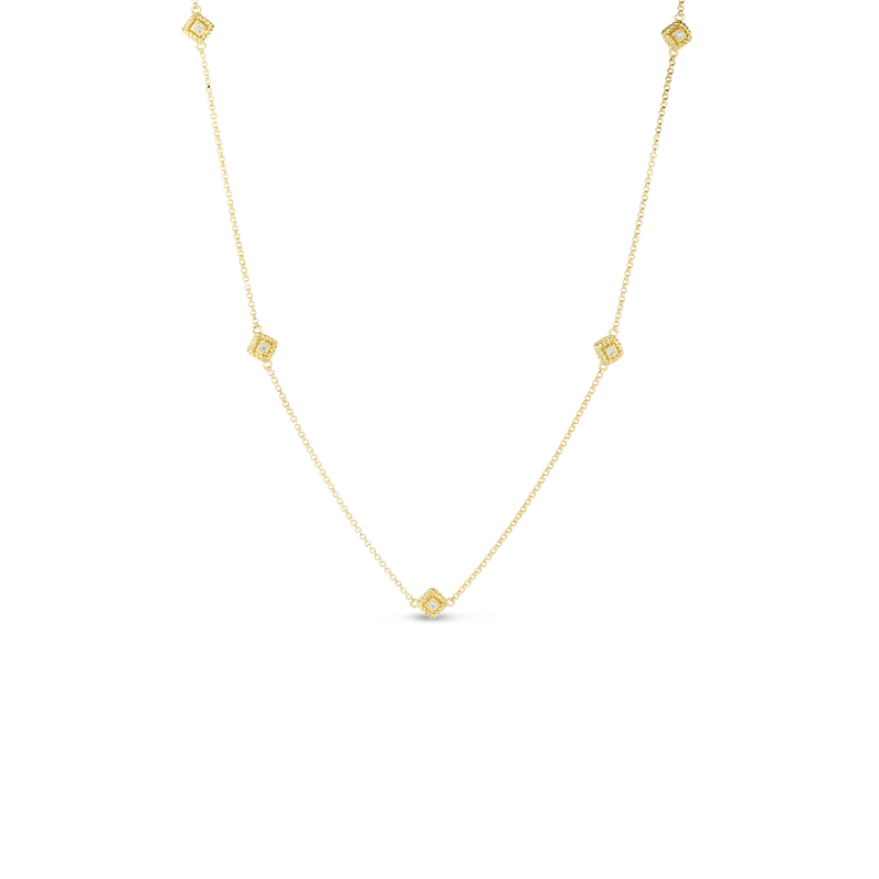 """Roberto Coin Chain Necklace Adjustable 16 To 18"""""""