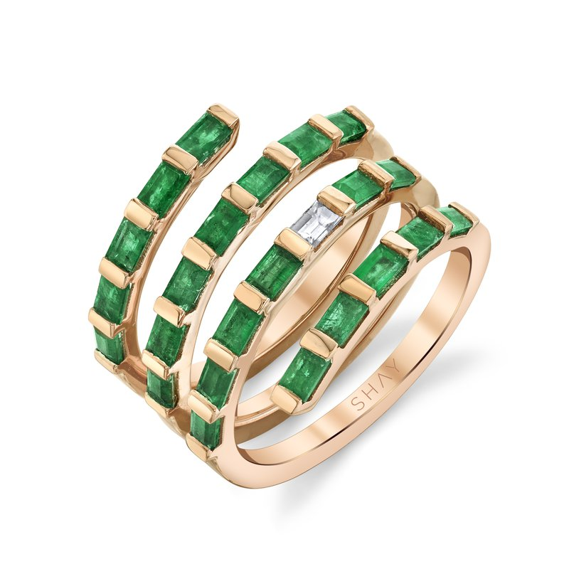 Shay Quad Spiral Ring Size 7
