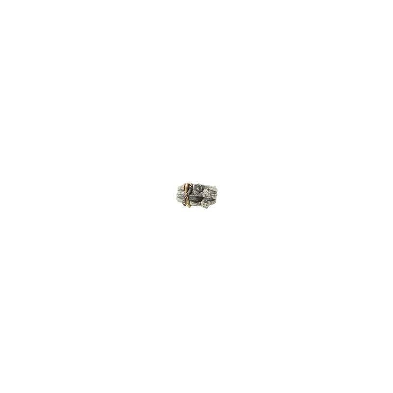 JOHN VARVATOS Nail Heads Wire Wrap Ring Size 10