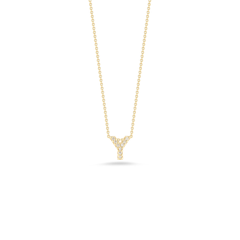"""Love Letter Y Initial Pendant Necklace 16""""Adjustable to 18"""""""