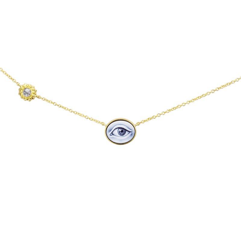 """Ana Katarina Eye Necklace 18"""" Length"""