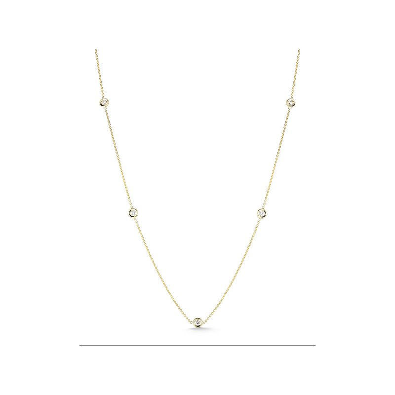 """Roberto Coin Five Station Necklace Length 16"""" Adjustable to 18"""""""