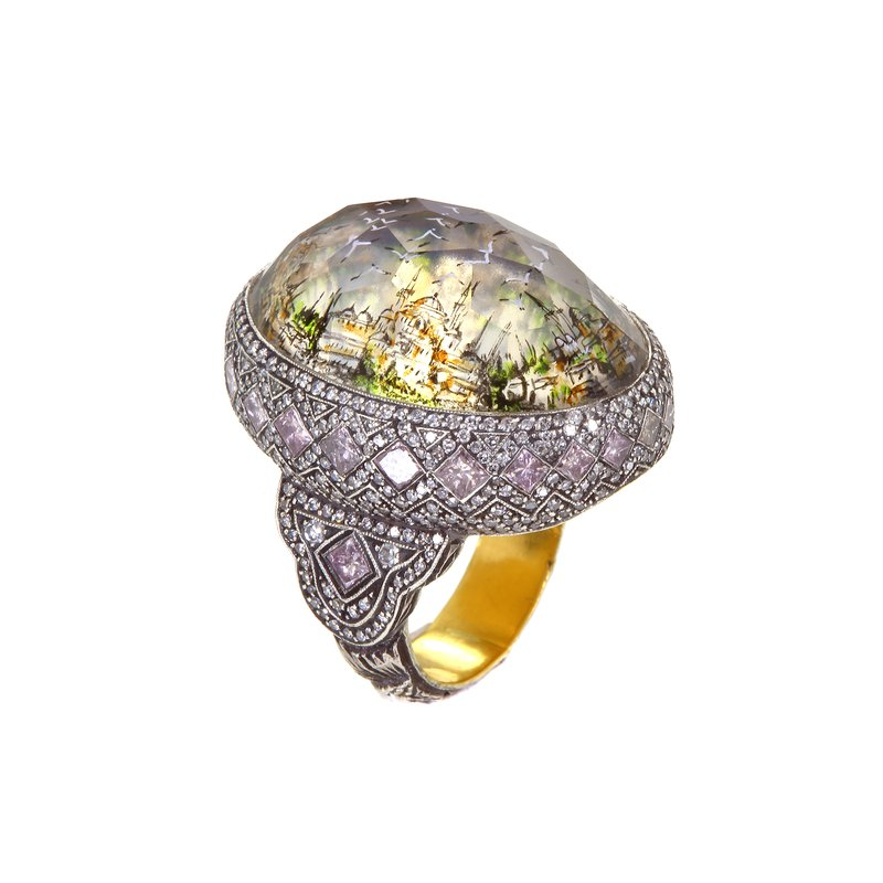 Sevan Bicakci Istanbul Day/Night Seascape Ring Size 8