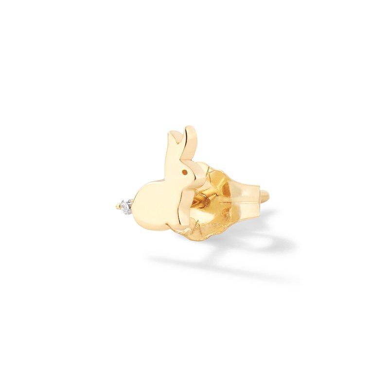 Alison Lou Tiny Bunny Stud Single Earring