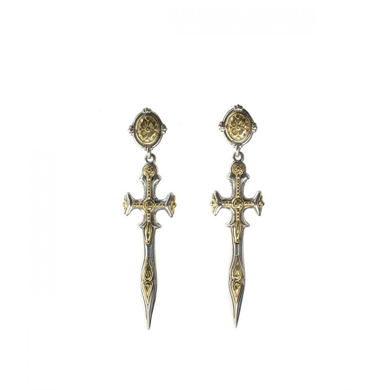 Konstantino Cross Dangle Earrings