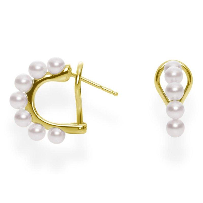 Mikimoto Hoop Earrings