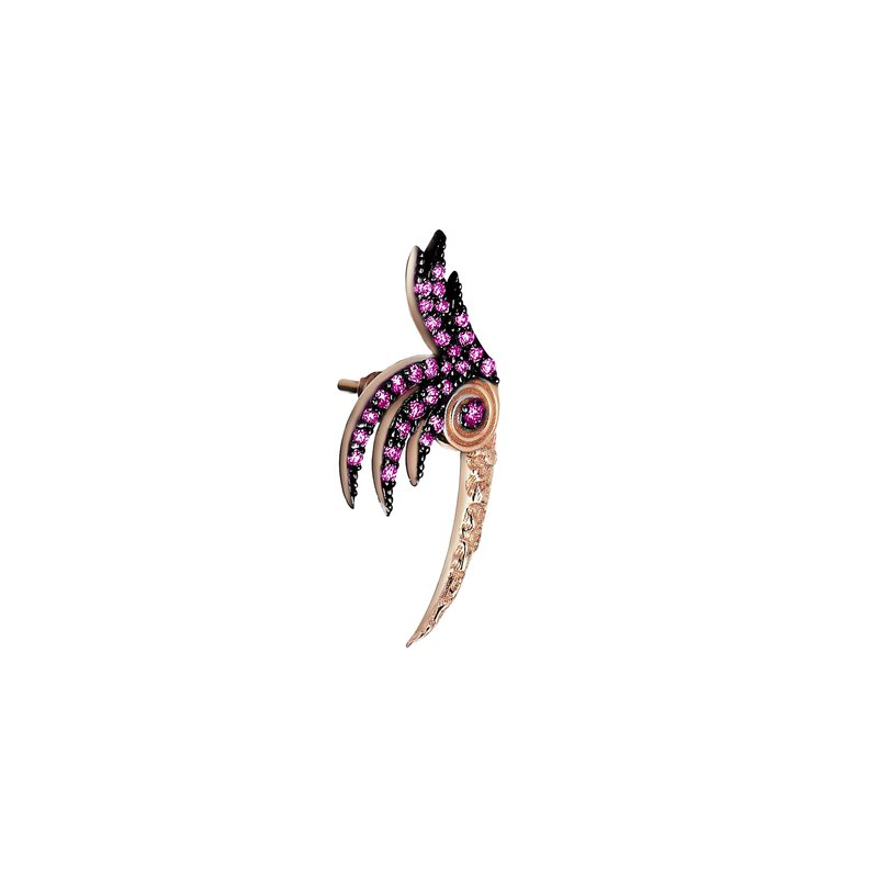 Kismet by Milka Bird of Paradise Single Earring