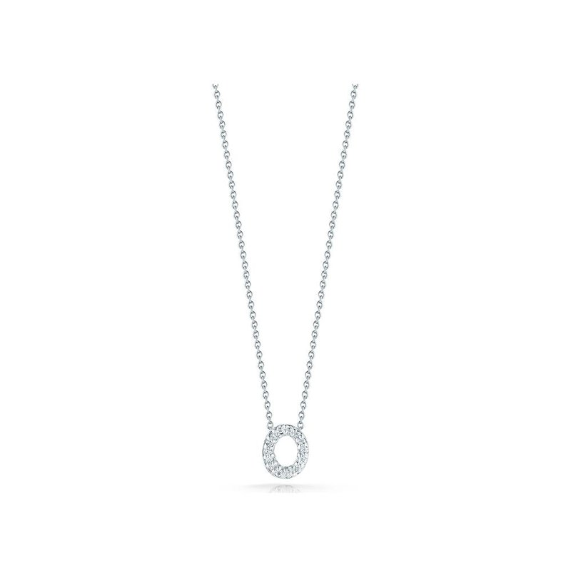 """Roberto Coin Love Letter O Necklace Length 16"""" adjustable to 18"""""""