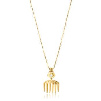 """Vici Cutout Necklace Length 18"""""""