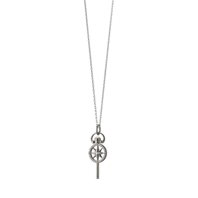 Monica Rich Kosann Miniature Compass Necklace