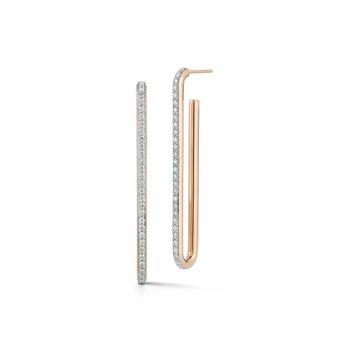 Single Elongated Chain Link Earring
