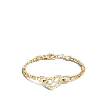 Slim Chain Heart Bracelet Size Small