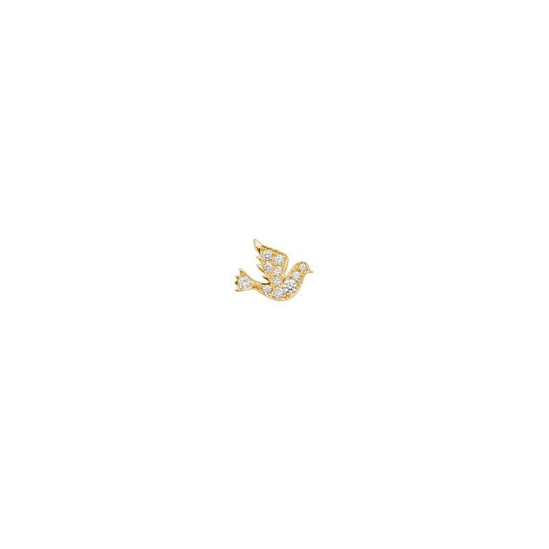 Robinson Pelham Single Dove Stud Earring Right Side