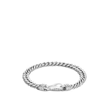 Curb Link Bracelet with Hook Clasp, Size S