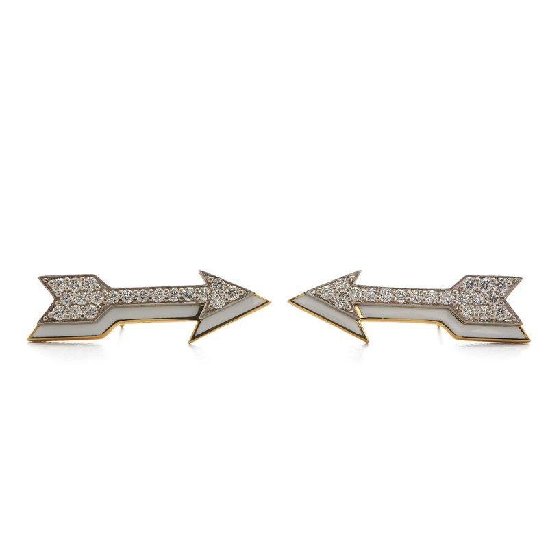 David Webb Arrow Earrings