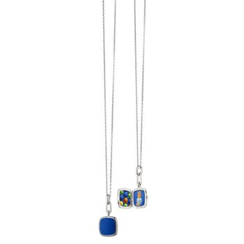 """Cushion Locket Necklace Length 16 with a loop at 17"""" & 18"""""""